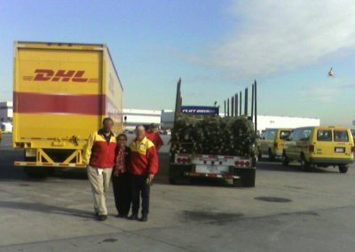 DHL Employees with Nancy Costo at Trees for Troops